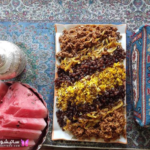 نمونه های زیبا دیزاین عدس پلو برای افطاری