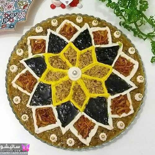 دیزاین شیک و مجلسی آش رشته برای افطار