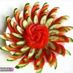 تزیین گوجه و خیار شیک
