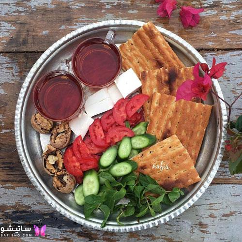 تزیین گوجه و خیار برای افطاری