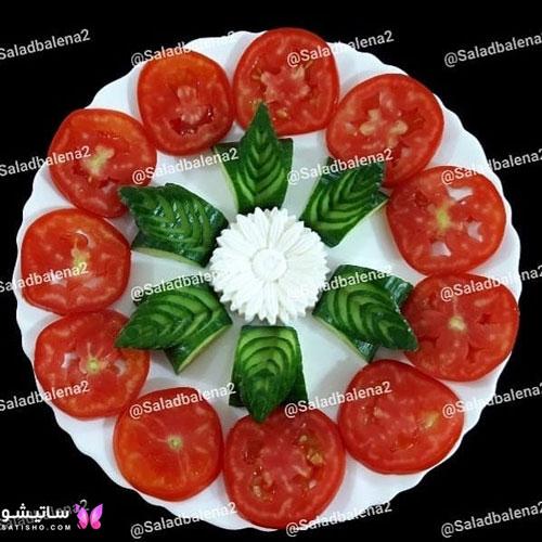 آموزش تزیین گوجه و خیار برای سفره آرایی
