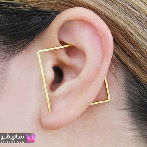 گوشواره بدلیجات زنانه طرح لوزی