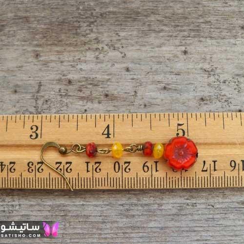 گوشواره آویز زنانه نگین دار