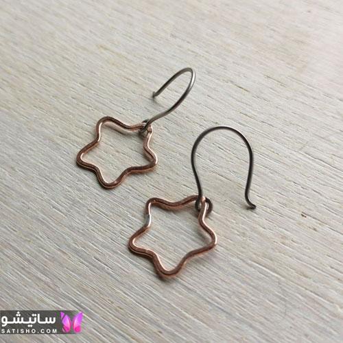 گوشواره دخترانه طرح ستاره