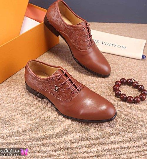 کفش مجلسی مردانه رنگ قهوه ای