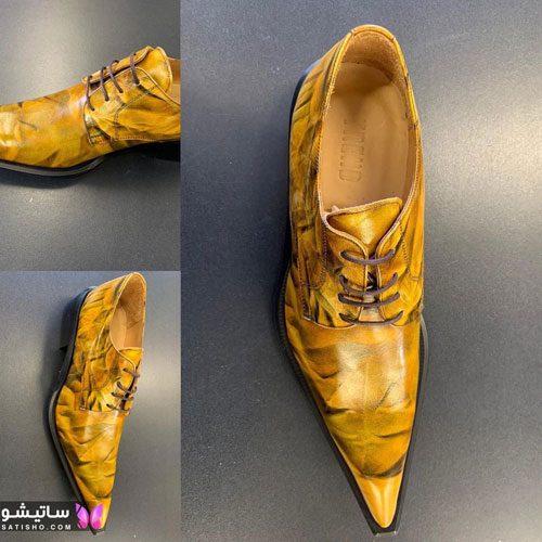 کفش مجلسی مردانه رنگ روشن