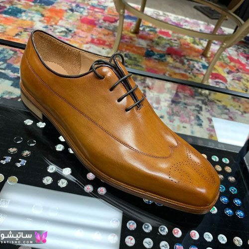 کفش مجلسی مردانه قهوه ای