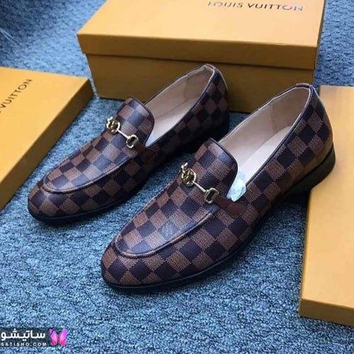 مدل کفش چرمی پسرانه شطرنجی