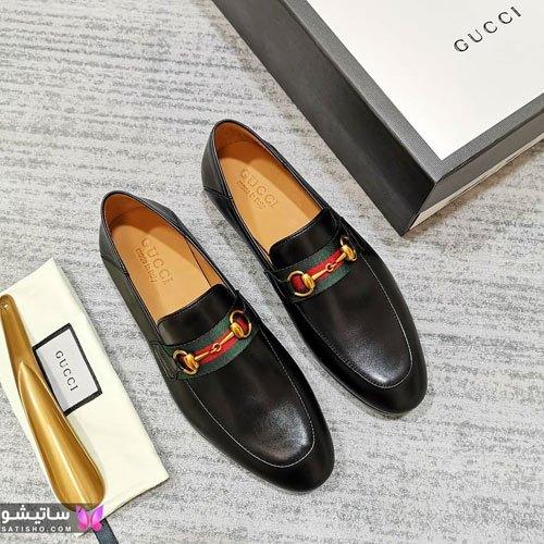 کفش مردانه چرم برند گوچی