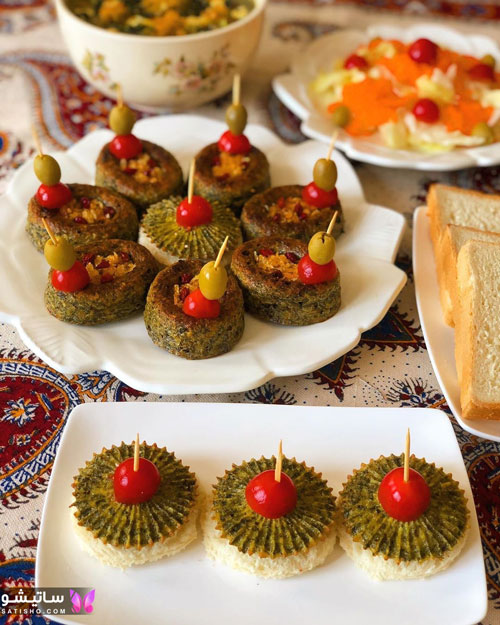کوکو سبزی قالبی شیک
