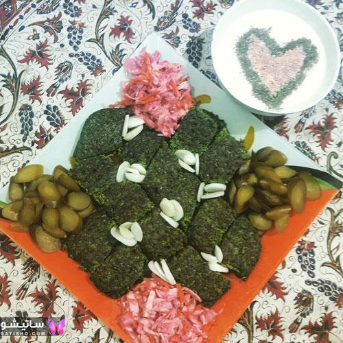عکس کوکو سبزی مجلسی برای شام
