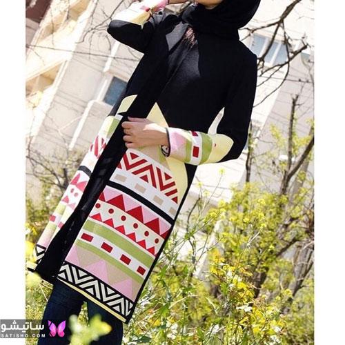 جدیدترین مدل های مانتو مشکی زنانه 1400 بلند