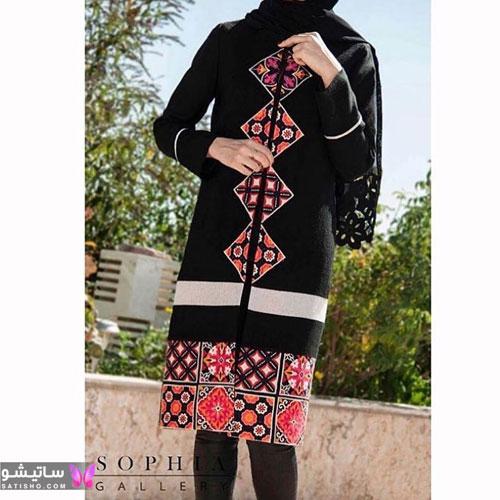 جدیدترین مدلهای مانتو دخترانه مشکی طرحدار