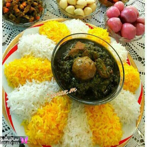 روش های ساده تزیین برنج برای مهمانی