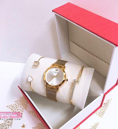 ساعت مچی زنانه طلایی شیک و زیبا