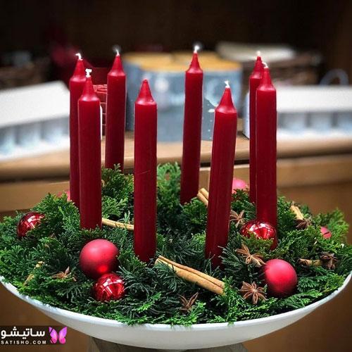 شمع آرایی میز