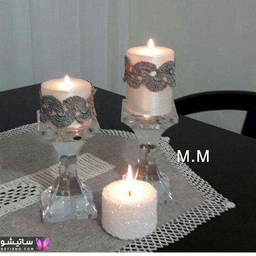 تزیین شمع استوانه ای