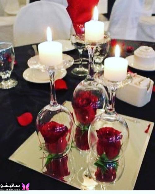 تزیین شمع با تور