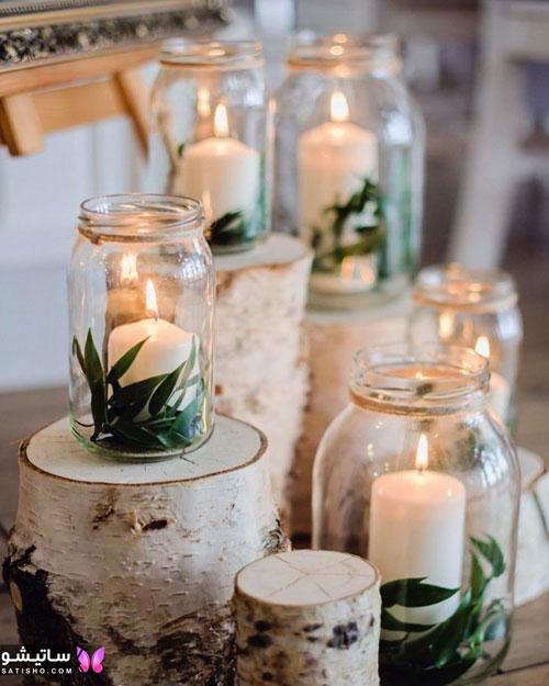 عکس تزیین شمع با گل