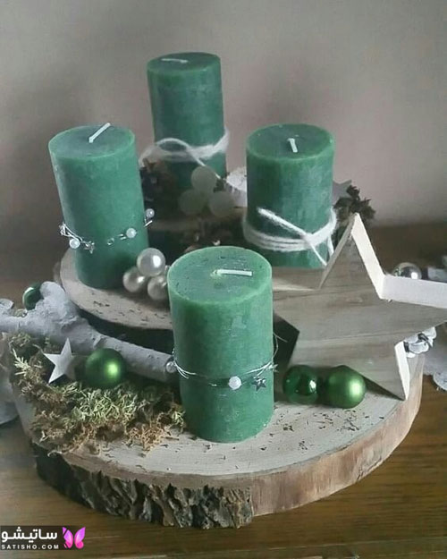 ایده تزیین شمع هفت سین
