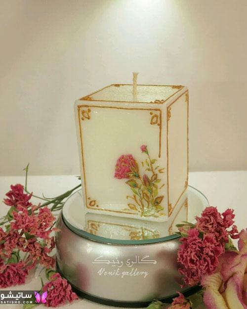 تزیینات شمع با صدف