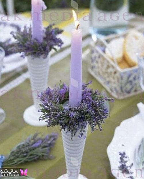 ایده تزیین شمع با صدف