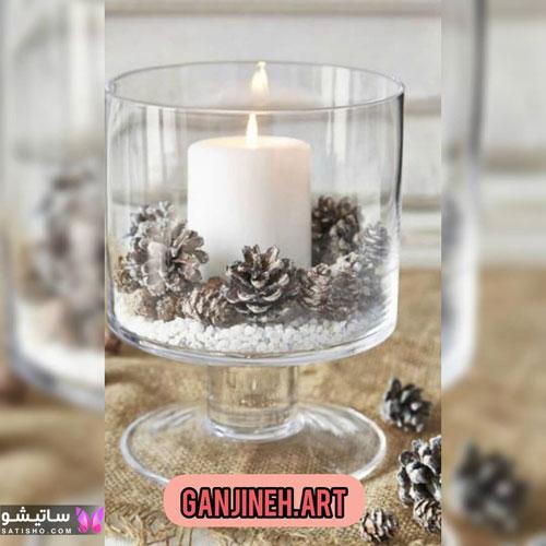 مدل تزیین شمع برای تولد