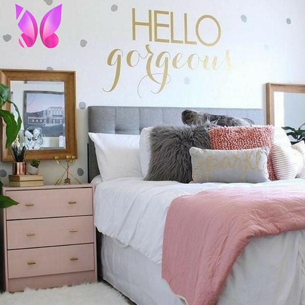 مدل اتاق خواب نوجوان دخترانه شاد و مدرن