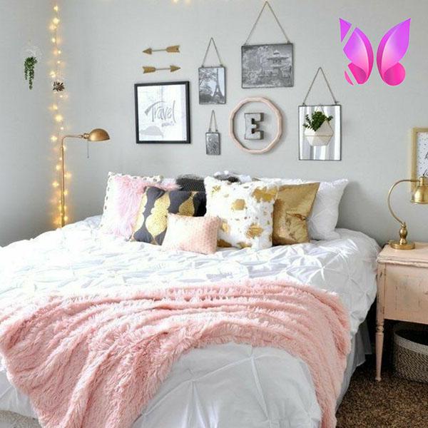 طراحی اتاق خواب نوجوان دخترانه لاکچری