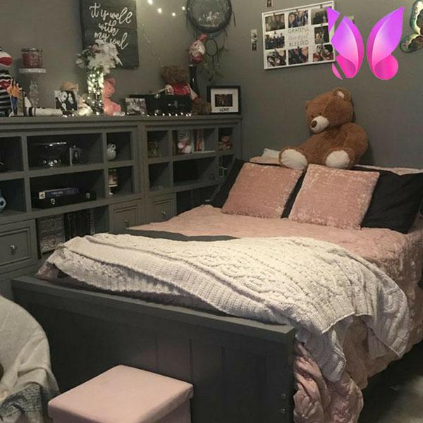 مدل طراحی اتاق خواب دخترانه شیک