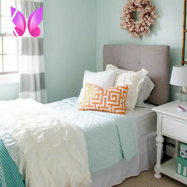 طراحی دکوراسیون اتاق خواب نوجوان دخترانه زیبا