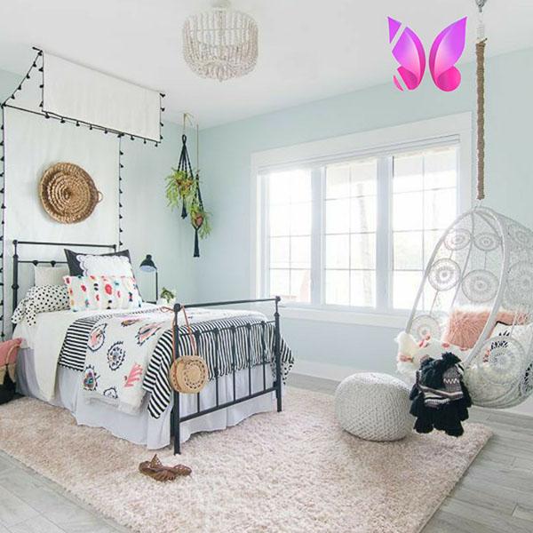 مدل طراحی اتاق خواب نوجوان دخترانه مدرن و شیک