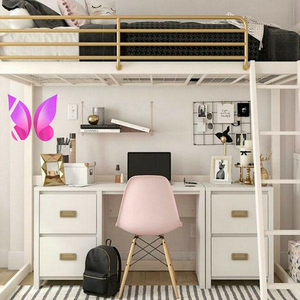 مدل طراحی اتاق خواب نوجوان مخصوص اتاق های کوچک و کم جا