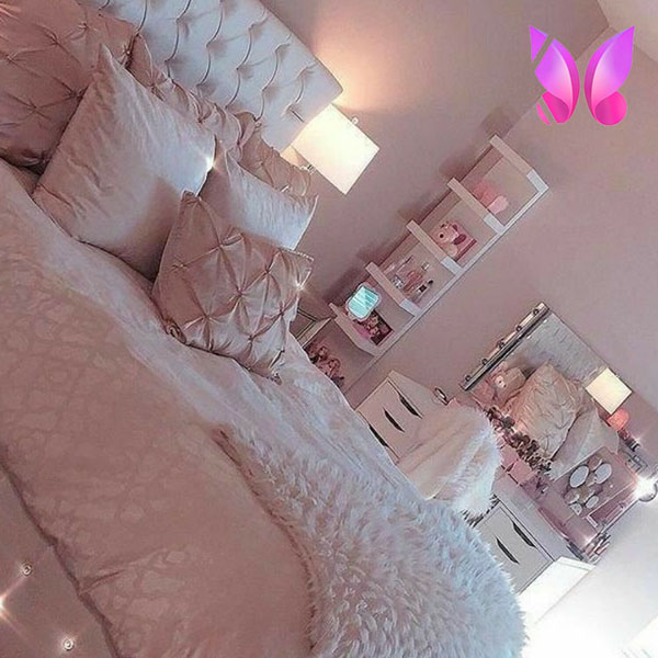 اتاق خواب دخترانه صورتی