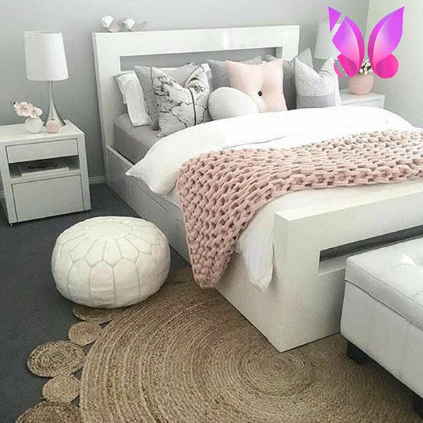 طراحی دکوراسیون اتاق خواب دخترانه مدرن و شاد