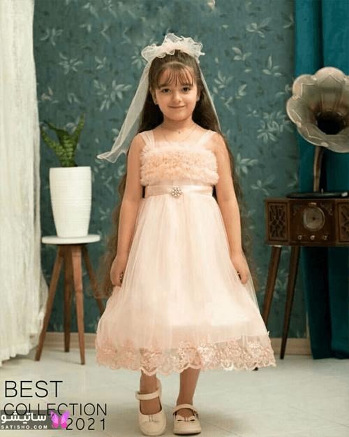 لباس عروس بچه گانه ساده