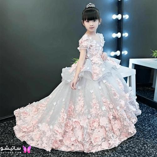 لباس مجلسی دخترانه بچگانه خیلی شیک
