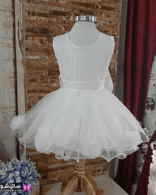 لباس نوزادی توری دخترانه