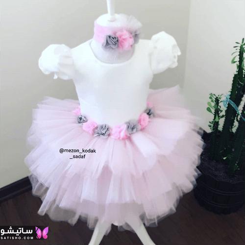 لباس پولکی بچه گانه دخترانه