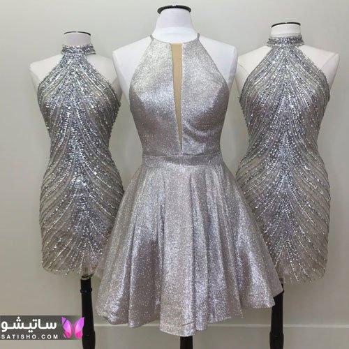 لباس مجلسی دنباله دار دخترانه و زنانه
