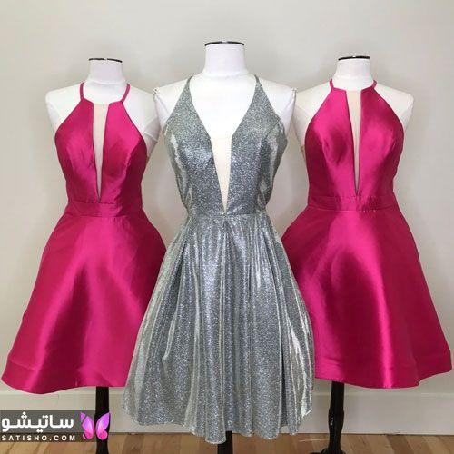 لباس مجلسی دخترانه یقه دلبری