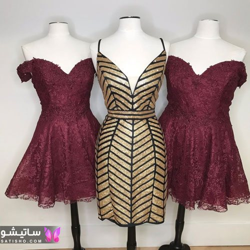 نمونه لباس های مجلسی دخترانه جنس گیپور