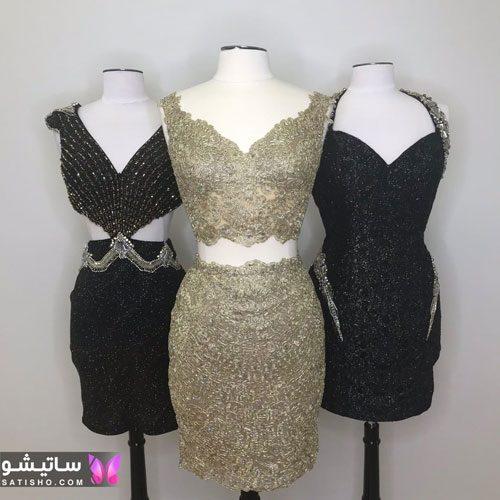مدل لباس مجلسی دوتیکه دخترانه شیک