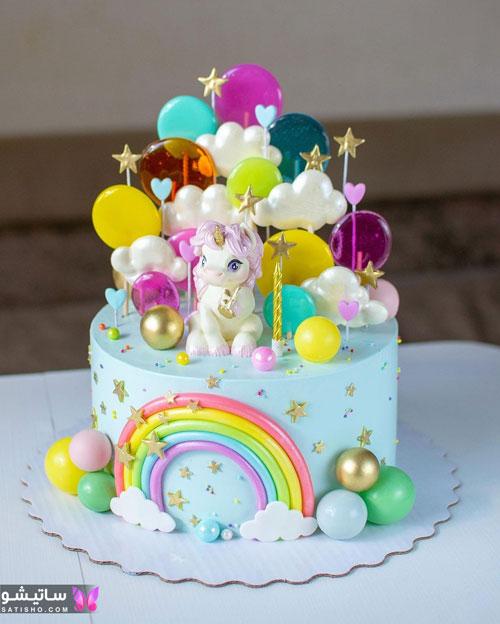 مدل کیک تولد پـسرانه کودکانه