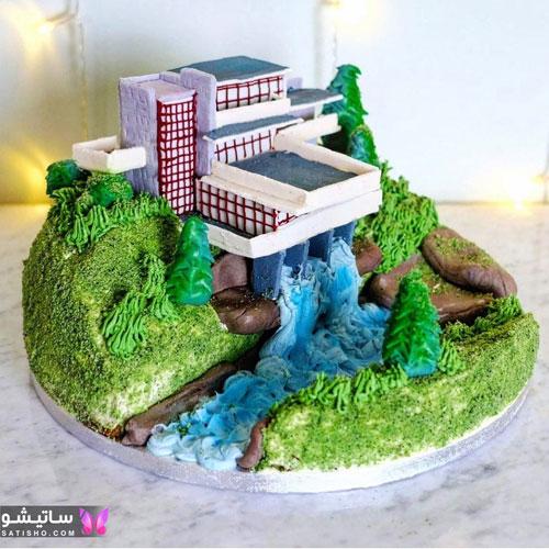 کیک تولد پـسرانه ساده بدون فوندانت