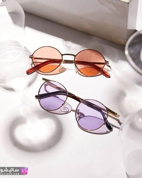 عینک آفتابی فریم گرد زنانه