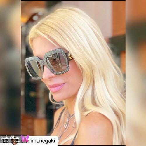 مدل عینک آفتابی نگین دار زنانه