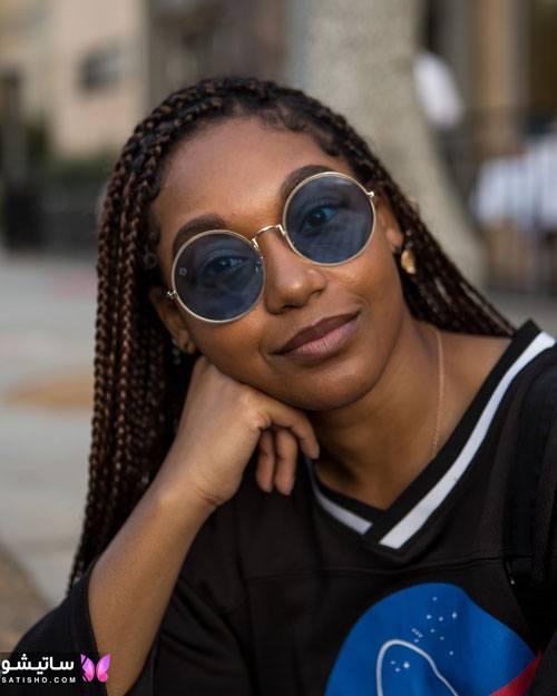 عینک آفتابی شیشه رنگی اسپرت زنانه
