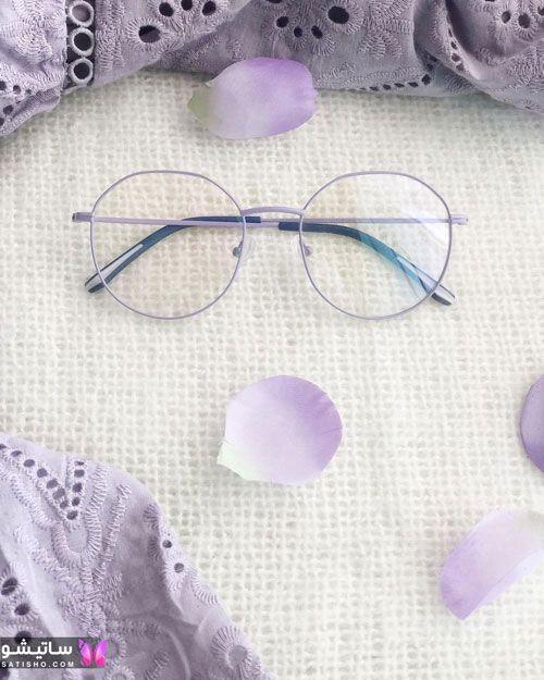 زیباترین نمونه های عینک طبی زنانه گرد