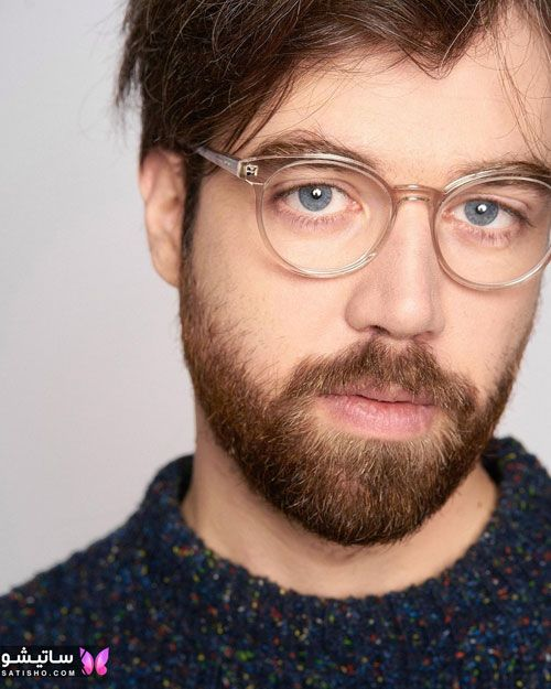 عینک طبی فریم گرد مردانه برای صورت های تپل
